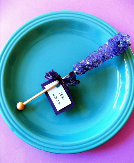 50 Best Bridal Shower Favor Ideas: candy stick bridal shower favors (by hello sugar)