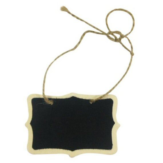 chalkboard favor tags