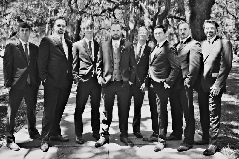 Groom and groomsmen | Photographer: Melissa Prosser Photography | via http://emmalinebride.com/real-weddings/colleen-ryans-lovely-savannah-wedding-at-the-mansion-on-forsyth-park