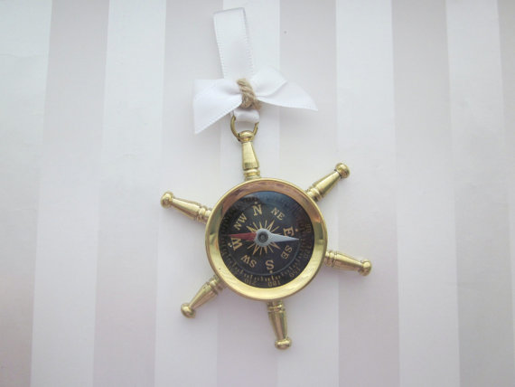 compass nautical boutonniere(by All for Love, L.O.V.E.) - 21 Unique Alternative Boutonniere Ideas