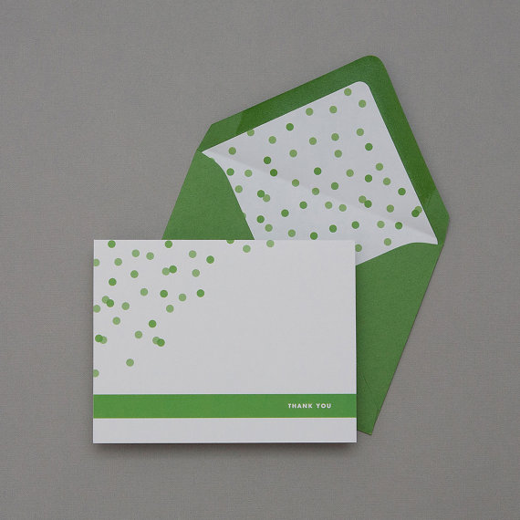 how to coordinate your wedding - confetti thank you card (by dear lc)