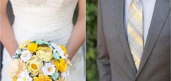 coordinate paper bouquet to color palette
