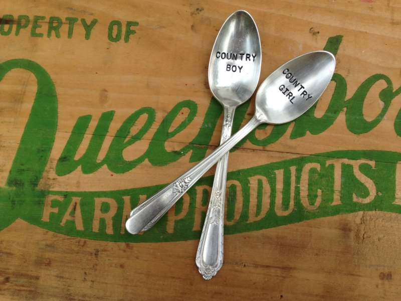 country boy country girl spoons
