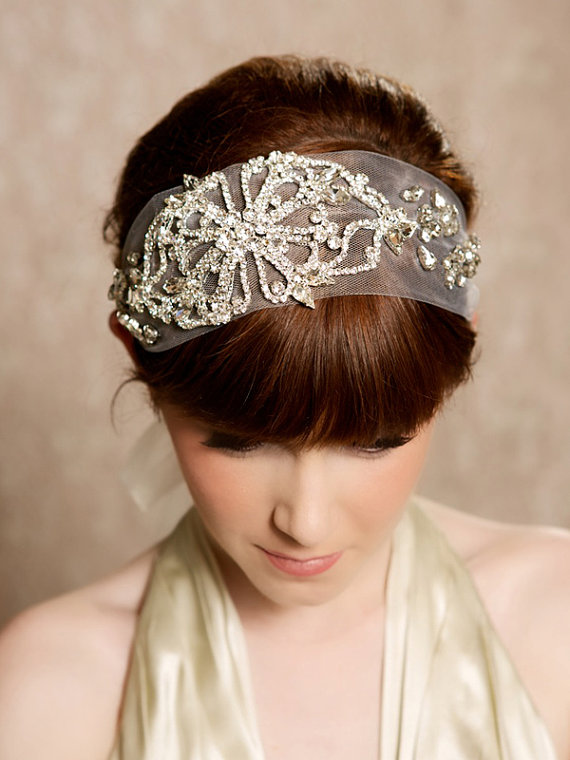 Crystal Headband (by Gilded Shadows) - Gatsby / 1920s Hair Accessories