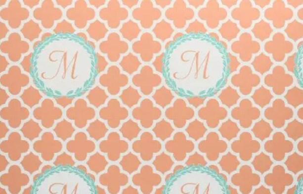 custom fabric monogram