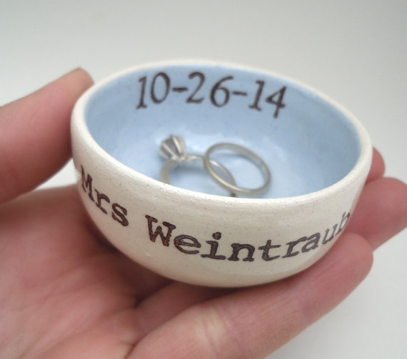 custom ring dish blue