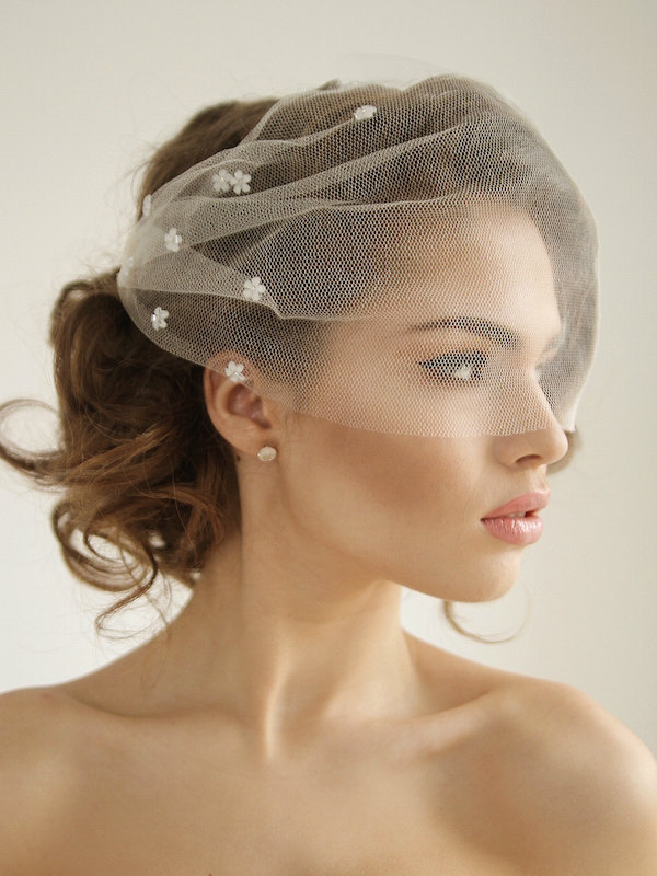 daisy wedding veil by honeypie bridal