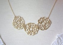 decorative gold statement necklace