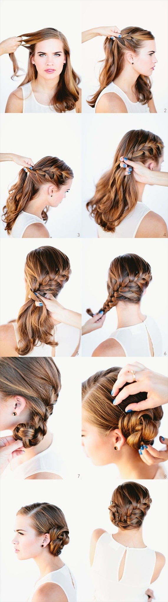 DIY Braided Bun / Chignon - Easy Wedding DIYs