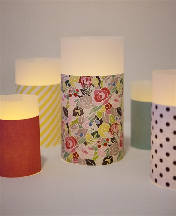 Easy Wedding DIYs - diy paper luminaries