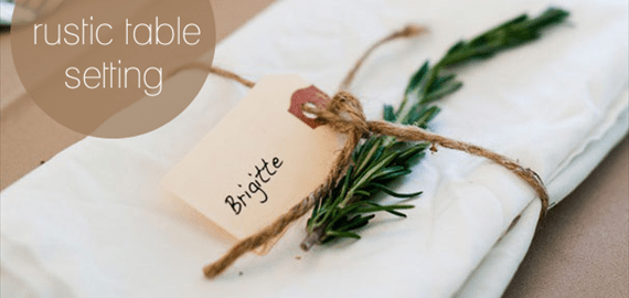 diy rustic table setting