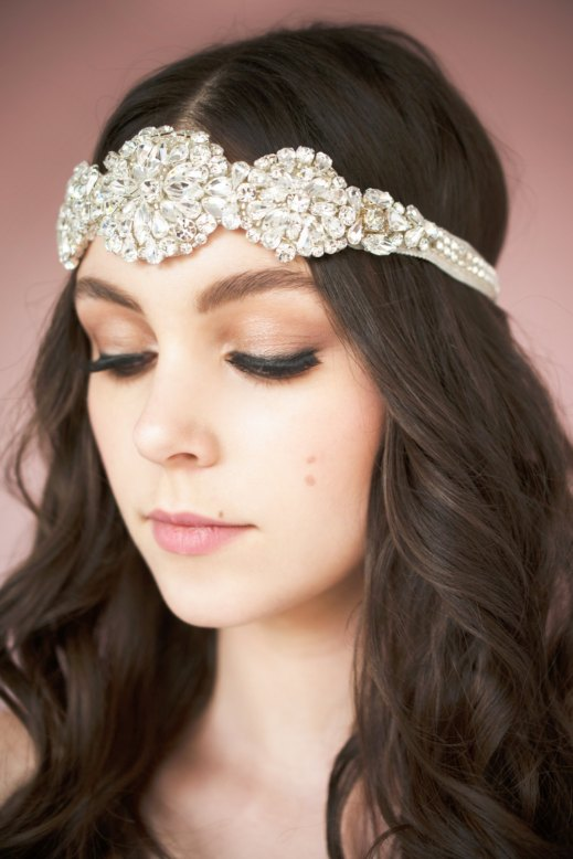 doris crystal headband | Bridal Headband With Veil via http://emmalinebride.com/bride/bridal-headband-with-veil/