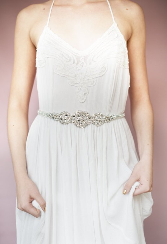 doris crystal sash | Bridal Headband With Veil via http://emmalinebride.com/bride/bridal-headband-with-veil/