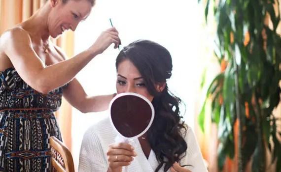 elegant side ponytail curly