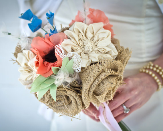 fabric flower wildflower bouquet
