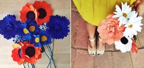 felt wedding ideas - flowers