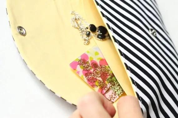 DIY Bridesmaid Clutch + Matching Card Case via EmmalineBride.com