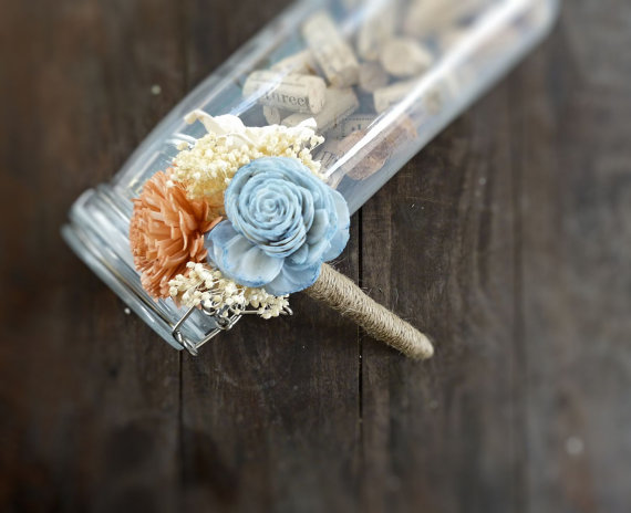 Sola Flower Girl Bouquet (by Curious Crafts) - What Does a Flower Girl Do? via EmmalineBride.com