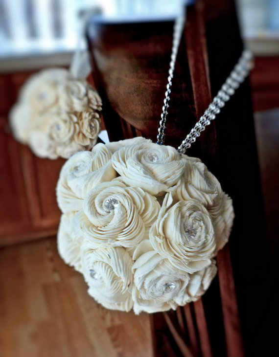 Flower Girl Sola Flower Kissing Ball (by Curious Crafts) - What Does a Flower Girl Do? via EmmalineBride.com