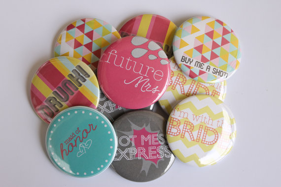 Bachelorette Party Favor Buttons