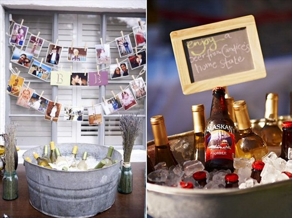 galvanized tub drinks wedding