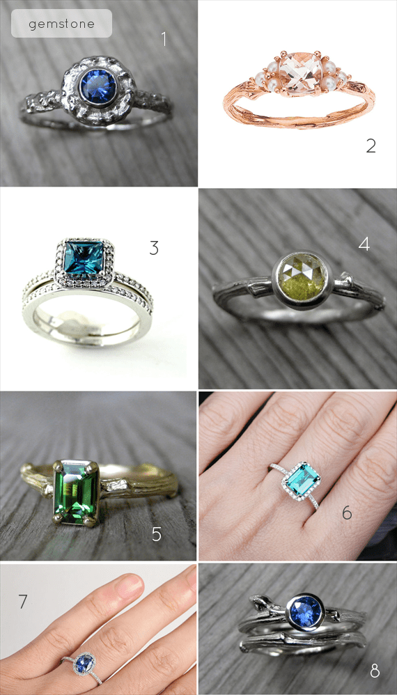 Alternative Engagement Ring Ideas:  Gemstone (via EmmmalineBride.com)