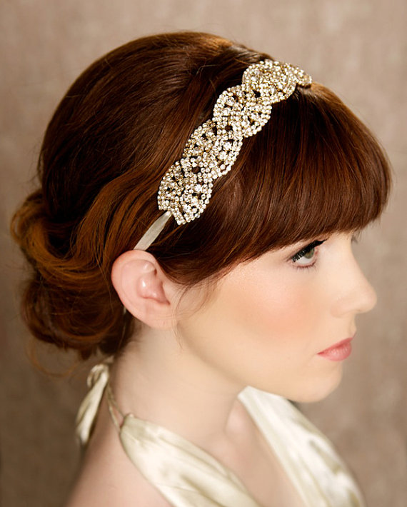 Carmella Gold Headband (by Gilded Shadows) - Gatsby / 1920s Hair Accessories