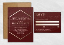 gold foil wedding invitations faux