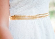 gold metallic bridal sash