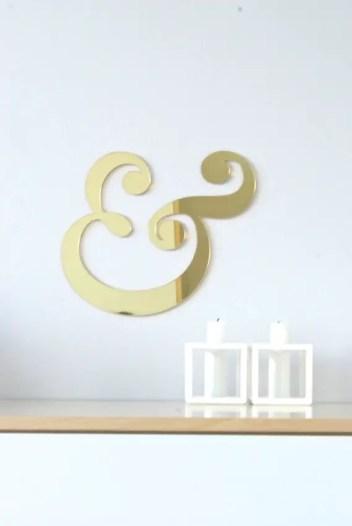 gold mirror ampersand
