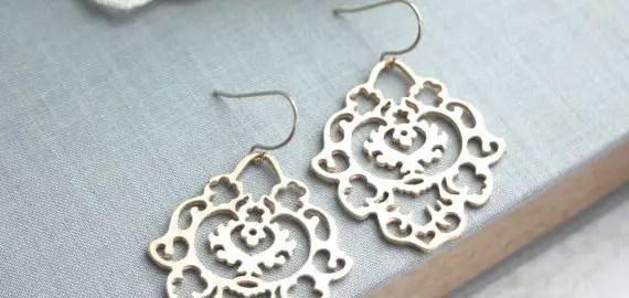 gold moroccan filigree earrings
