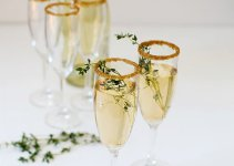 gold rimmed glasses reception