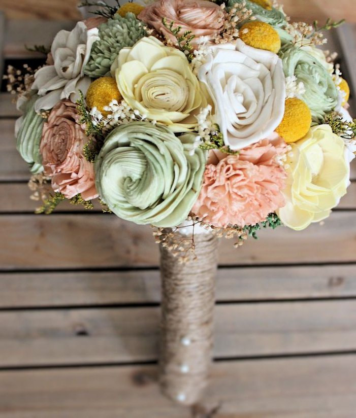 gorgeous sola flower bouquet