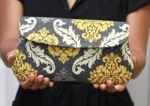 grey-yellow-damask-clutch-purse