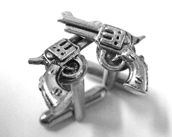 gun cuff links