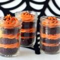 halloween cake in a jar