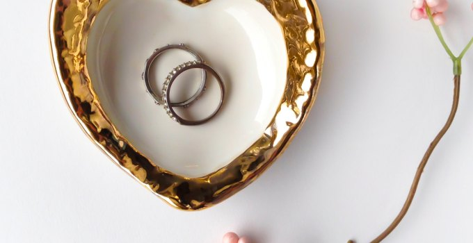 hammered gold ring dish