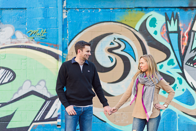 Detroit engagement session in Corktown