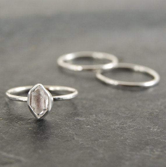 Best Bridesmaid Gifts from A-Z (via EmmalineBride.com) - herkimer diamond ring by anatomi
