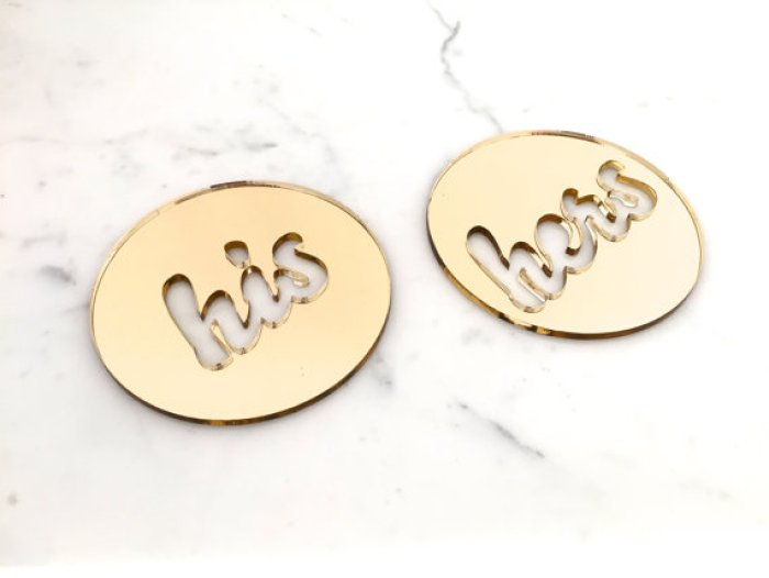 his and hers drink coasters mirrors