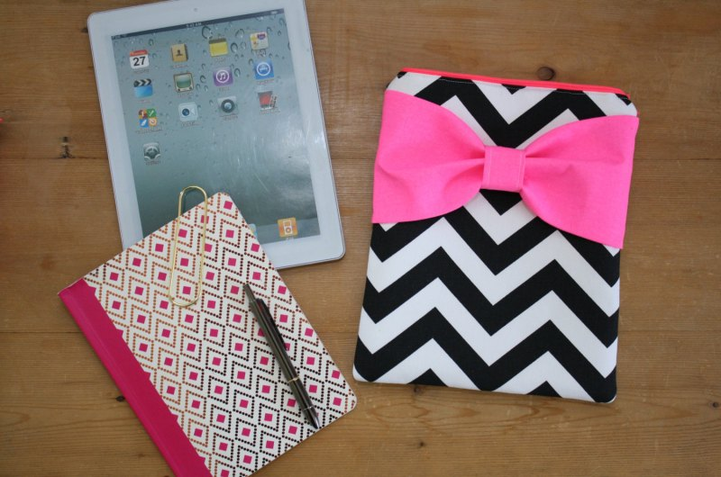 hot pink and black cute cases for iPads