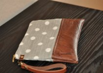 ikat-polka-dot-brown-leather-wristlet