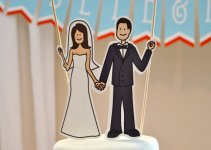 illustrated cake topper