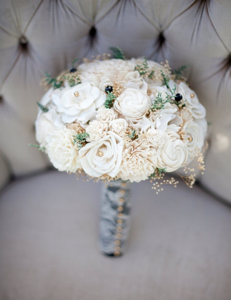 ivory sola flower bouquet