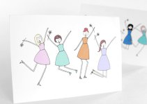 jump for joy bridesmaid card