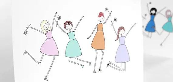 jump for joy bridesmaid card