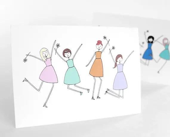 jump for joy be my bridesmaid card