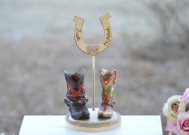 Boot Wedding Cake Topper
