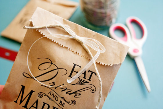 brown paper favor bags twine
