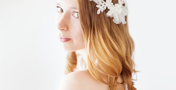 lace bridal headpiece